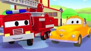 Поезд Трой и Пожарный Френк в Автомобильный Город  Мультфильм для детей