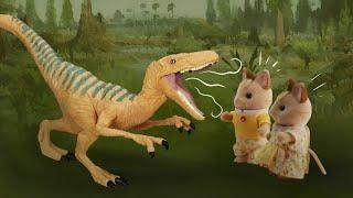 Велоцираптор хищный динозавр. Серия 28. Семьяу Мяу Мяу. Развивающие мультики для детей