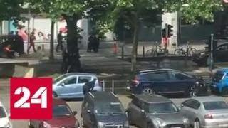 Момент ликвидации льежского стрелка сняли на видео - Россия 24