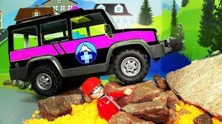 Мультики про машинки - Обвал в горах! Мультфильмы для детей развивающие! Машинки мультики 2017