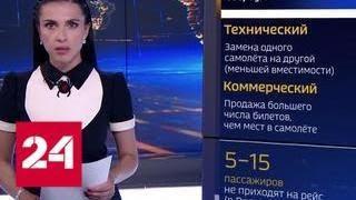 Авиакомпании будут штрафовать за овербукинг - Россия 24