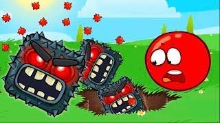 Красный шар 4 подземные ходы мультик игра! Новые игровые #мультфильмы для детей 2018