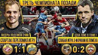 Спартак 1:1 Зенит / Урал 0:2 ЦСКА - Дзюба vs Семак, Максименко топ, прагматичный Гончаренко