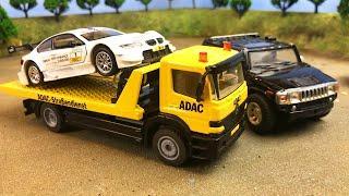 Мультики про машинки. Трактор, Автокран и Гоночные машинки. Авария на ферме. #2