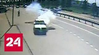 Неудавшийся теракт на въезде в Грозный сняли на видео - Россия 24