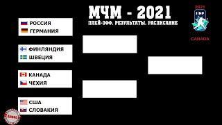 Молодежный чемпионат мира по хоккею 2021 (МЧМ). Кто в полуфинале? Результаты ¼. Расписание.