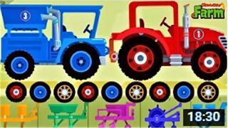 Мультики про #Машинки. Веселая Ферма. Много Машинок и Трактор Мультфильмы для Детей. Мультики 2017