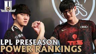 #LPL 2021 Spring Preseason Power Rankings   Teams #17 - 1
