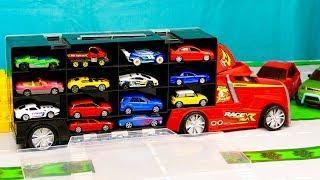 Мультфильм про Большой грузовик автовоз привез машинки, маленькие машинки, эвакуатор 307 Серия