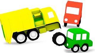 4 машинки и мусоровоз   Мультфильмы про машинки для малышей   Новая серия - развивающие мультики