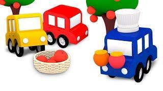 Развивающие мультики для малышей 0+. 4 машинки и варенье — Учим цвета в мультфильме про машинки