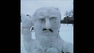 прикольные картинки и карикатуры про снеговиков  2