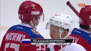 Россия — ХК «Спартак» - 2:1 ОТ. Гол Алексея Марченко