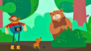 Мы идём по лесу - Медведь, Заяц, Сова и Лошадь, Петух, Свинья / Мультики про животных