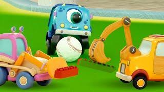 Машинки Мокас играют в мяч - Мультики для малышей про машинки - Развивающие мультфильмы онлайн