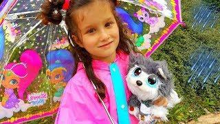 СПАСАЕМ СОБАКУ! Алис приютила БЕЗДОМНОГО ЩЕНКА ХАСКИ! Бездомный щенок НОВАЯ серия игрушек Распаковка